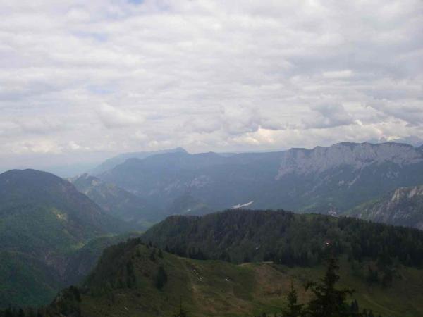 Blick zum Untersberg und zur Reiteralm