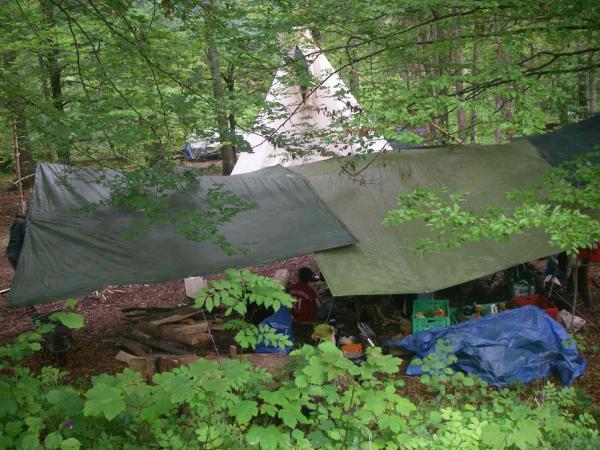 Camp von oben