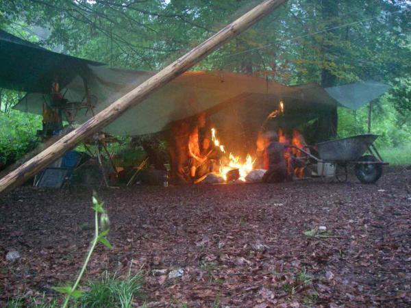Abendliches Feuer
