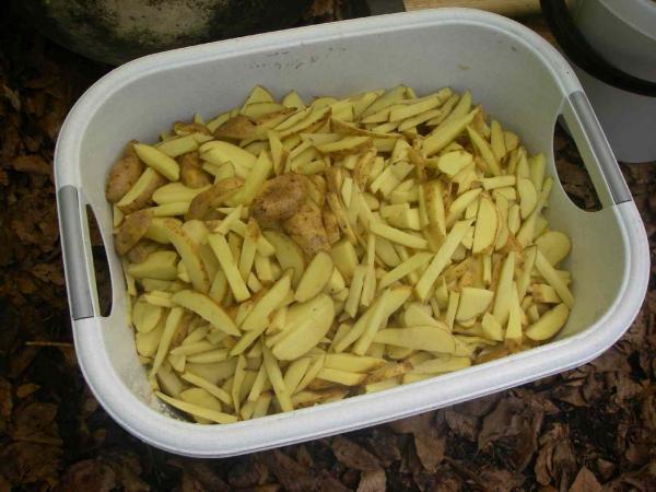 für die Lagerfeuer-Pommes