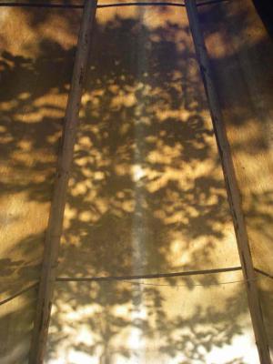 ...projezierte dieses schöne Schattenspiel auf die Tipileinwand