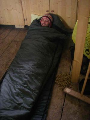 Sebastian im Schlafsack