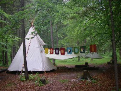 Das Camp ist aufgebaut